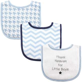 Luvable Friends Baby Drooler Bibs for Boys, Thank Heaven