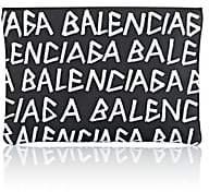 Balenciaga Men's Leather Pouch-Black