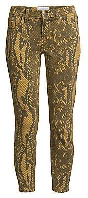 Current/Elliott Women's The Stiletto Python Print Skinny Jeans