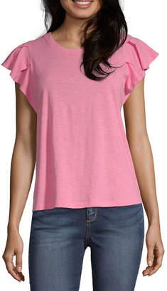 91a746ad32d4 A.N.A Womens Round Neck Short Sleeve T-Shirt