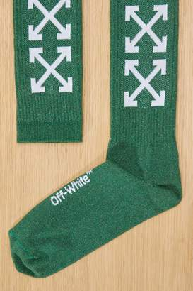 Off-White Off White Green logo socks