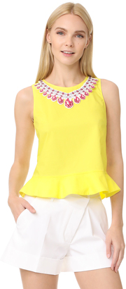 Moschino Sleeveless Blouse $595 thestylecure.com