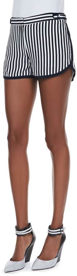 Diane von Furstenberg Tiffany Striped Silk Shorts