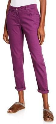 Brunello Cucinelli Garment-Dyed Twill Five-Pocket Jeans