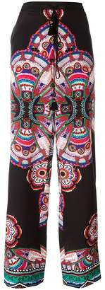 Roberto Cavalli abstract print drawstring trousers