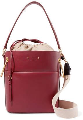 Chloé Roy Medium Leather Bucket Bag - Burgundy