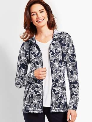 Talbots Floral Soft-Drape Jersey Jacket