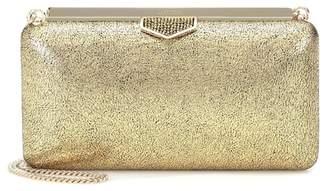 Jimmy Choo Ellipse metallic leather clutch