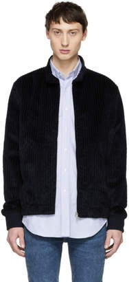 A.P.C. Navy Loulou Bomber Jacket