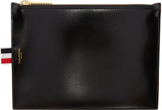 Thom Browne Black Large Coin Purse $450 thestylecure.com