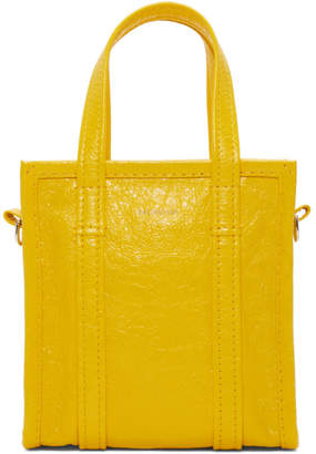 Balenciaga Yellow XXS Bazar Shopper Tote
