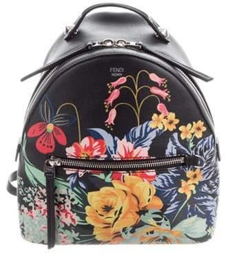 Fendi 2017 Floral Backpack Black 2017 Floral Backpack