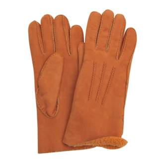 Agnelle Shearling gloves 3 ribs
