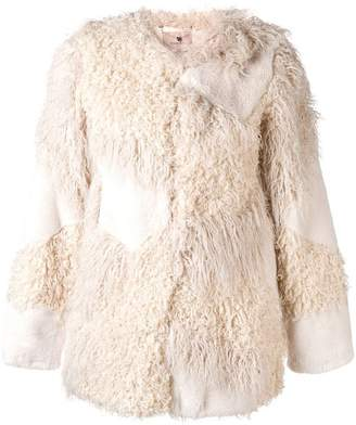 Twin-Set faux fur patch jacket