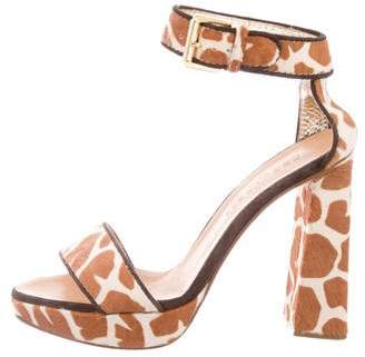 DSQUARED2 Animal Print Ankle Strap Sandals
