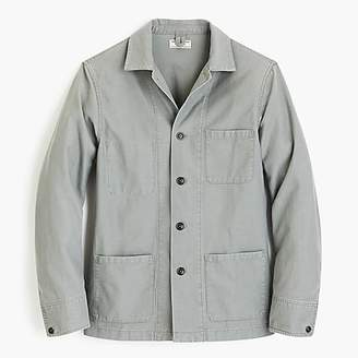 J.Crew Wallace & Barnes twill cotton-hemp counter coat
