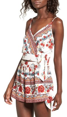 Women's Band Of Gypsies Rose Print Crop Top $48 thestylecure.com