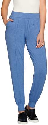 Halston H By H by Knit Pintuck Seam Pull-On Jogger Pants