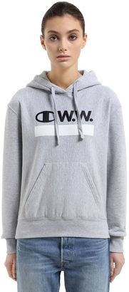 Wood Wood Hooded Cotton Terry Sweatshirt $198 thestylecure.com