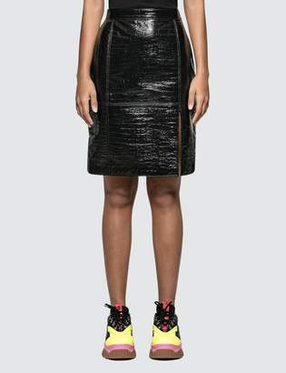 MSGM Faux Cocco Skin Skirt