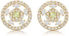 Kiki McDonough Apollo Green Amethyst & Diamond Earrings