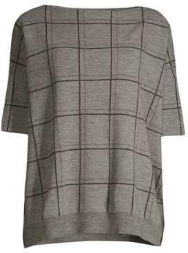 Lafayette 148 New York Oversize Wool Jacquard Sweater
