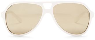 Dolce & Gabbana Men's Stripes Aviator Acetate Frame Sunglasses $130 thestylecure.com