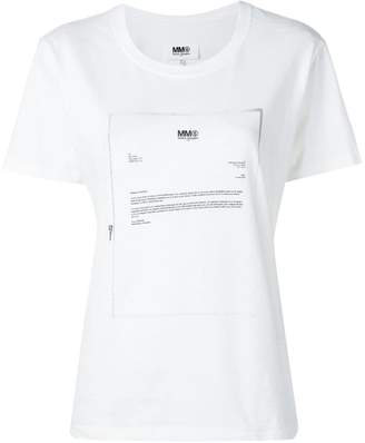 MM6 MAISON MARGIELA (エムエム6 メゾン マルジェラ) - Mm6 Maison Margiela レター Tシャツ