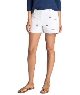 Vineyard Vines 3 1/2 Inch Flag Whale Every Day Shorts
