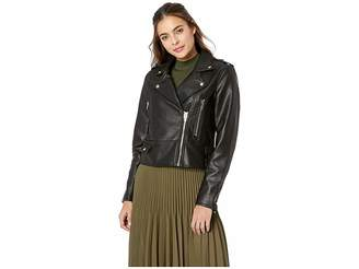 Blank NYC Vegan Leather Moto Jacket in It Takes Two