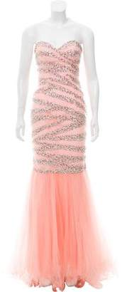 Terani Couture Embellished Mermaid Gown