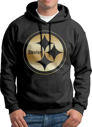 Sarah Men's Pittsburgh Steelers Gold Logo Hoodie L