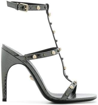 Versace textured studded sandals