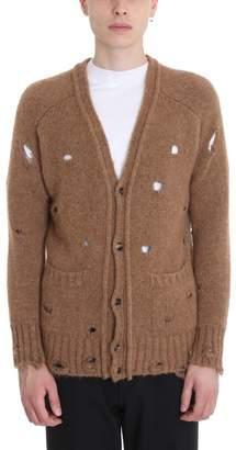 Maison Flaneur Camel Wool/cashmere Cardigan