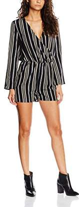 boohoo Women's Flute Sleeve Strip Dress,8