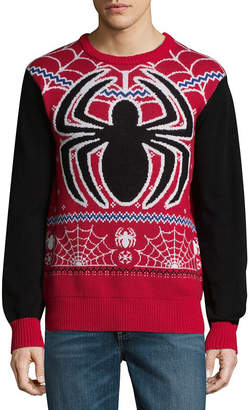 Spiderman NOVELTY SEASON Novelty Season Crew Neck Long Sleeve Pullover Sweater