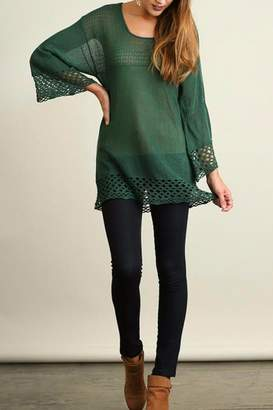 Umgee USA Bell Sleeve Sweater