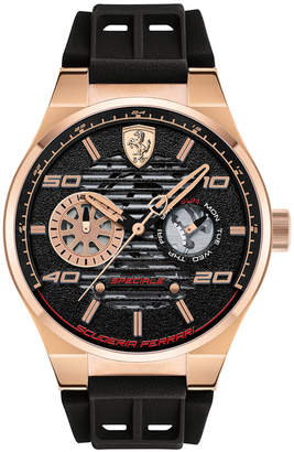 Ferrari LIMITED EDITION Men's Speciale Multi Black Silicone Strap Watch 44mm