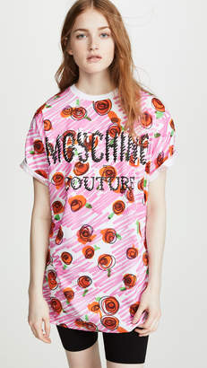 Moschino Scribble Rose Logo T-Shirt Dress