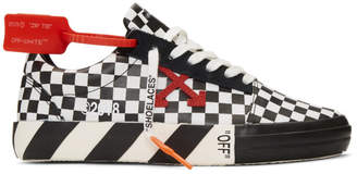 Off-White Off White Black and White Checkered Vulcanized Sneakers