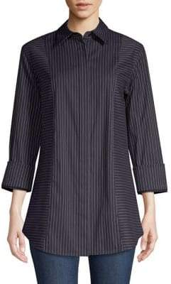 Lafayette 148 New York Claude Striped Blouse