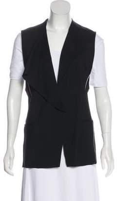 Helmut Lang Contrast Trim Single Button Vest