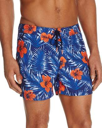 SUNDEK Hibiscus Print Swim Trunks $129 thestylecure.com