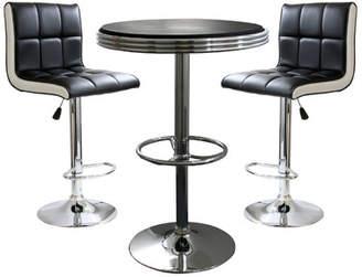 Latitude Run Southampton 3 Piece Adjustable Height Pub Table Set