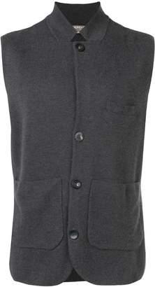 N.Peal fine gauge Milano collared waistcoat