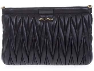 Miu Miu Black Quilted Leather Clutch