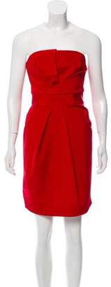 DSQUARED2 Strapless Silk Dress