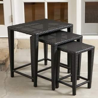 Mercury Row Kinslow 3 Piece Wicker Nesting Table Set