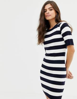 Brave Soul harbour sweater dress in stripe