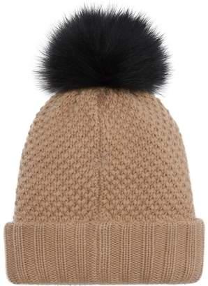 Burberry Fur Pom-Pom Wool Cashmere Beanie